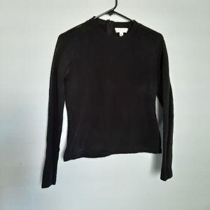 Carven Black Textured Pullover Sweater Medium